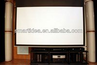 electric projection screen - High definition HD D home cinema electric projection screen high contrast movie motorized projection screen Fedex