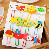 Wholesale 36pcs Cute Mini Cartoon Animal Shaped Wooden Paper Clips Pins Bookmarker Kids Gift Christmas Party Wedding Decoration Favors