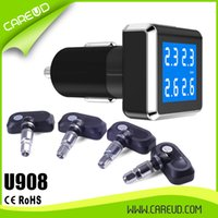 Wholesale U908 Internal Sensor Wireless TPMS Tire Pressure Monitoring System For All Car DHL Hot Sale In Spain TPMS Manufacturer Supply