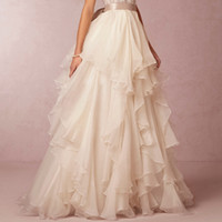 accessories natural dyes - Cascading Ruffle Removable Wedding Petticoats Floor Length Skirt Bridal Accessories Wedding Dress Slip Soft Chiffon quot From Natural Waist