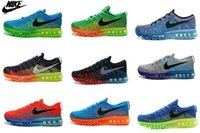 Wholesale Nike Men s Air Max FLYKNIT Running Shoes Original Mens running shoes Cheap FLYKNIT Air Max Best Cheap Shoes