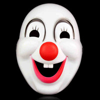 adult animation shows - Red nose clown mask Halloween mask dance festival of animation and game show cosplay mask