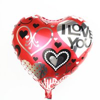 air free helium - heart shape foil balloons birthday party decoration mylar helium balloon wedding i love you air ballons