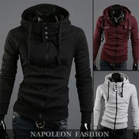 Wholesale Hoodies Sweatshirt Men Casual Slim Fit fashion brand high collar design sports hoodies sweatshirt men casual slim fit hooded coats male