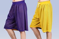 polyester mesh shorts - New Fashion Double Side Polyester Trunks Elastic Waist Sport Shorts Grid Mesh Plus Size Bermuda Masculina Men Basketball Shorts