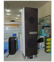 audio towers - 4pcs dhl free tower tabletop computer laptop speaker with mic handsfree wooden bluetooth top speaker for iphone6 plus