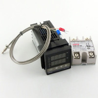Wholesale Dual Digital RKC PID Temperature Controller C100FK02 V AN V Solid State Relay SSR25DA with thermocouple K SSR Output