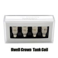 crown - Authentic Uwell Crown Sub Ohm Tank coil head Dual Vertical Coils ohm ohm Ni200 TC ohm Single ohm
