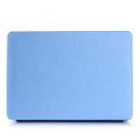 Wholesale luxury Apple laptop protect shell silk pattern leather case cover for Macnook Air Pro inch