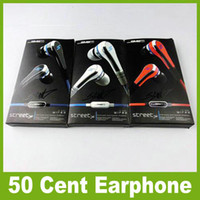 Wholesale DHL Cent SMS audio mini cent in earphone headphone Earbuds with Microphone STREET by CENT with retail pack for iphone Samsung JF A6