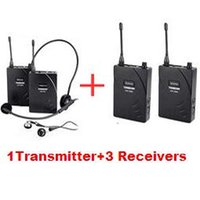 Cheap Takstar UHF-938  UHF 938 Wireless Tour Guide System UHF frequency wireless microphone 1 Transmitter+3 Receivers use for Tour guiding ect.