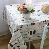 best coffee tables - Best Time Of Visit Paris Cartoon Table Cloth Table Cover Durable Restaurant Coffee Shop Table Overlay Table Linen quot x70 quot x86 quot J2