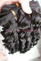 Wholesale New Top Quality Virgin Brazilian Curly Hair Deep Wave Machine weft quot quot B Factory Outlet Price g pc