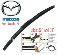"""Wholesale Soft Rubber Blade Window Wiper - Free shipping car wiper blade For Mazda 6 Size 18"""" 22"""" Soft Rubber WindShield Wiper Blade 2pcs PAIR deflector window"""