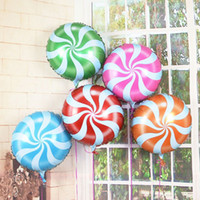 inflatable toy - Pieces Round Candy Lollipop Aluminum Foil Ballon Inflatable Kids Birthday Party Decorations Wedding Balloon