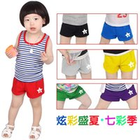 1600 points - kz summer Korean version of the new candy colored five pointed star baby boys and girls children s clothing shorts