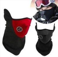 Wholesale Windproof Bicyle Cycling Motorcycle Fleece Half Helmet Face Mask Winter Hood Cap Headwear Mask Thermal for Sports Ski Snowboard