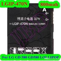 accu battery rechargeable - Cheap LGIP N GD580 Battery For LG GD GD580 LOLLIPOP Battery AKKU Accu mAh Rechargeable batteries