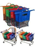 folding shopping cart - 4PCS Supermarket Trolley Bag Supermarket Shopping Cart Bag