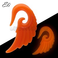Wholesale 3mm mm Acrylic Angle Wing Ear Taper Glow In Dark Expander Stretcher
