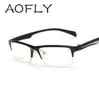 aluminum optical frames - 2016 Men Glasses Frame Branded Titanium Eyeglass Frames Optical Glasses Clear lens Reading for Computer glasses Clear lens