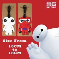 big luggage tags - 10 CM Q Version Soft Keychain Luggage Tag Animation Cartoon Cool Big Hero Baymax PVC Figure Toy Pendants New Arrival