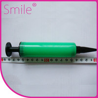 balloon pump - Colorful small size balloon pump Plastic balloon pump balloon inflator air pump