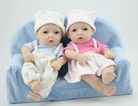 reborn baby doll - 28cm boy girl reborn baby doll with clothes hat TOP Quality reborn baby doll samll cute Full vinyl traning reborn dolls