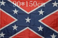 Wholesale 90 cm two sizes printing poly or fabric with grommets Confederate flag support many styl and color