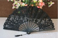 Lace hand fans - black Lace Bridal s hand fans wedding Fans new style shipping free multicolor in stock