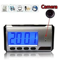 Wholesale Portable Alarm Clock Spy Camera Mini DV DVR Video with Motion Detection Clock Spy Motion Hidden Nanny Cam