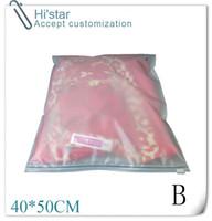 Wholesale 20 pieces accept custom print logo Clothes Zip Lock Plastic Bag Clear Resealable Bag Self Sealing Bag