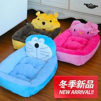 Wholesale Cute Cartoon Face Bed For Pets Dogs Winter Warm Beds House Dogs Products Animals Costume