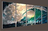 Cheap original Metal Modern Abstract Wall Art oil Painting Sculpture Decor home office decor sea