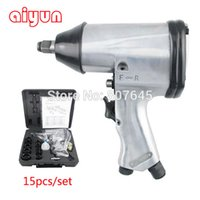 Wholesale 350Nm set quot Air wrench set impact wrench Air Tools air Angle Die Grinder pneumatic spanner set