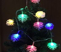 Wholesale Pine Cone Battery String Light Outdoor Decorative Lights for Christmas Wedding Party