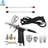 auto spray guns - OPHIR Dual Action Spray Gun mm mm mm Nozzle Set Touch Up Auto Paint Sprayer Paint Airbrush Gun Kit Power Tools_AC069