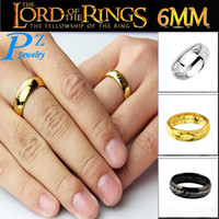lord of the ring - HOT Fashion L Stainless Steel Jewelry The Hobbit And The Lord Of The Rings K Gold Plated Men Rings