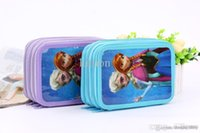 Wholesale Frozen stationery box pen box Pencil Bag suite girl Pencil Bag available from stock