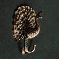 antique curtain tie backs brass - Peacock Decorative Wall Hook Metal Wall Hooks Antique Brass Curtain Tie Backs Hardware Hat Hanger Coat Rack Hangers Home Decor