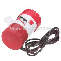 hydraulic - 12V For DC GPH Water Bilge Pump Submersible Fishing Yacht Boat Marine Ocean Red order lt no tracking