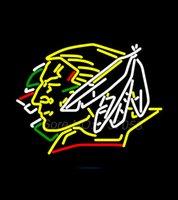 air sioux - Bud Light Logo North Dakota Fighting Sioux Hockey Neon Sign Avize Nikke Air Jorrdan Neon Sign Real Glass Tube Handicraft