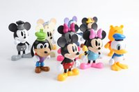 Red Finished Goods Roles New 12pcs set Mickey Action figures Minnie Mouse Toys Model Donald Duck Goofy Winnie figures Children toys Kids Toys dolls gifts 60sets