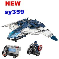 american plastic bricks - Iron man captain American ride Helicopter Warplane building block minifigures with Weapons Kids Toys bricks toys