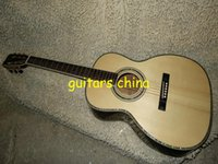 Wholesale NEW Acoustic Guitar natural Solid spruce Tree of life inlay fret board Abalone Binding Body