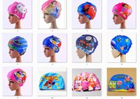 Wholesale New fashion style Children s cartoon water proof ear cap swimming cap cute cartoon boys and girls swimming equipment