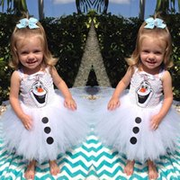 TuTu autumn party themes - 2015 New theme Children s dress snowman Olaf dress cartoon tutu party dress B001