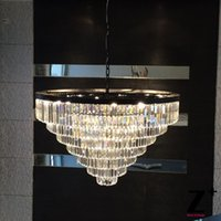 Wholesale Replica Grand crystal chandelier Industrial Diam cm S ODEON CLEAR GLASS FRINGE TIER CHANDELIER vintage k9 lustre