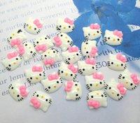 cabochons - Pink Hello Kitty Kawaii Cabochons Flatback Scrapbook Fit Phone Embellishment cm
