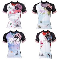 beautiful riding - new women s white cycling jersey beautiful Lily cycling shirt Plum flower bicycle jersey girl Lotuscycle gear ride
